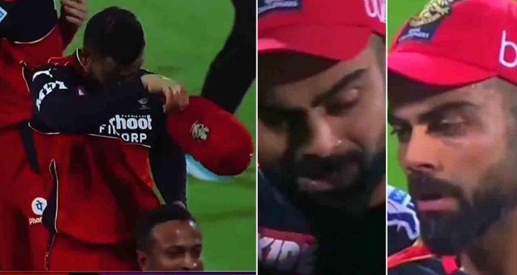 मैच हारने के बाद विराट कोहली फूट-फूटकर रोते दिखे।