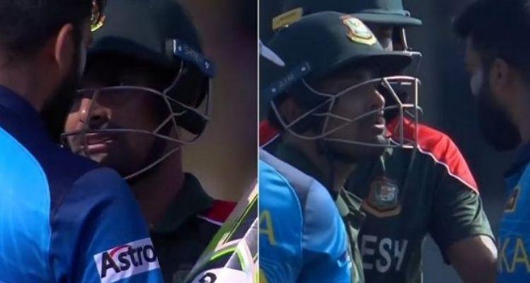 बांग्लादेश-श्रीलका मैच के बीचो-बीच हो गई धक्का-मुक्की, जाने कौन से प्लेयर्स आपस में उलझे