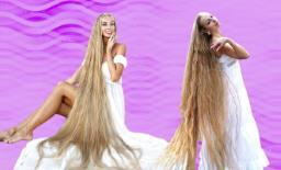 मां ने कहा था बाल न कटवाना, बेटी ने माना और तीस साल बाद साढ़े छह फीट लंबे हैं बाल