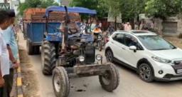 इंटों से भरी ट्रैक्टर ट्राली ने युवक को कुचला, मौत
