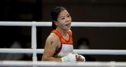 Tokyo Olympics : बॉक्सर मेरी कोम की शानदार जीत से शुरुआत, अगले राउंड में किया प्रवेश
