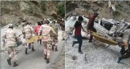 हिमाचल में लैंडस्लाइडः पत्थरों में दबी गाड़ियां, नौ लोगों की मौत